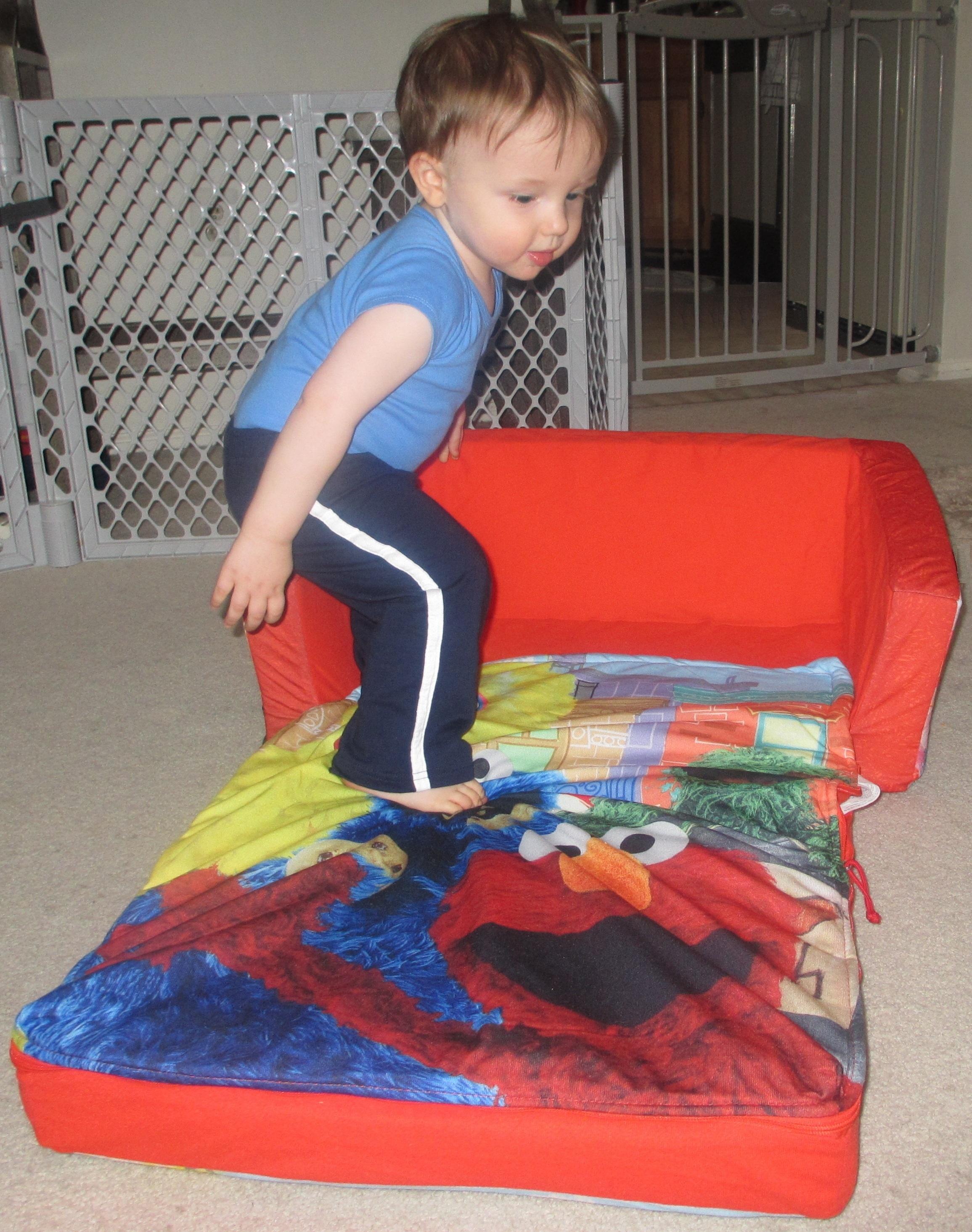 Sesame Street Flip Sofa With Slumber Tylerstoyreviews Com